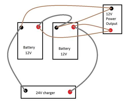 On 24 Volt Battery System Wiring Diagram by Wiring Diagram Together With Two 12 Volt Batteries To 24