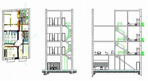 Hostel, Lodging Hotel, Accommodation 2D DWG Plan for