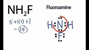 Nh2f Lewis Structure  How To Draw The Lewis Structure For Nh2f  Fluoroamine