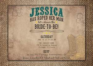 bridal wedding shower invitation she39s roped her man With man wedding shower invitations
