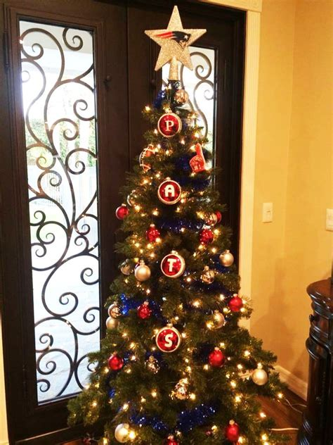 More Patriots Christmas Tree Inspiration!  Pats At Home  Pinterest  Trees, Christmas Trees