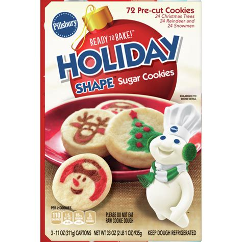That means more time for you to get creative — try cookies, bars, desserts and more! Pillsbury Christmas Sugar Cookies Calories / Pillsbury Shape Christmas Tree Sugar Cookie Dough ...