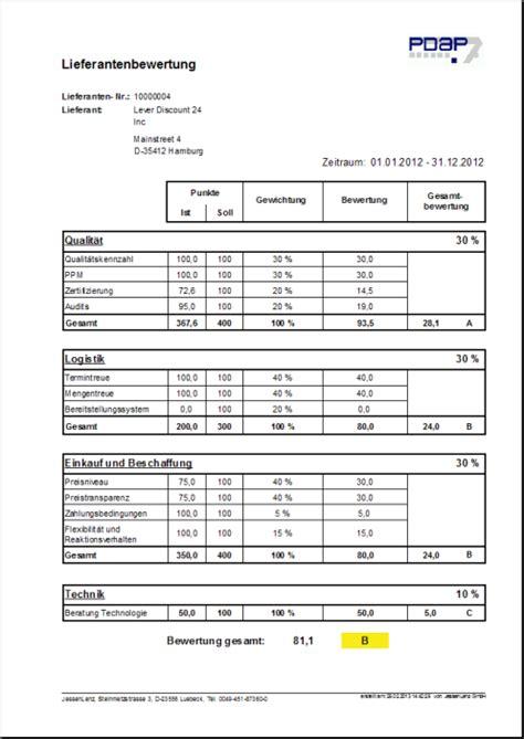 modul wareneingang lieferantenbewertung