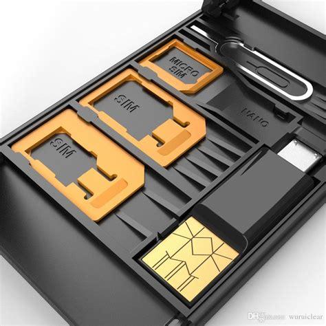 nano sim card microsd card case storage phone holder