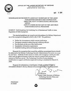 dod bronson exemption guidelines memo With dod memo template