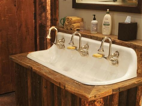 How to Style Bathroom with One Sink Two Faucets Design