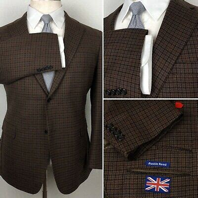 austin reed  dillards houndstooth plaid brown wool