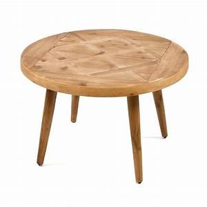 Table Bois Naturel : table basse en bois naturel 70x70x45cm maison et styles ~ Teatrodelosmanantiales.com Idées de Décoration