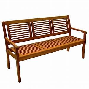 Gartenbank 3 Sitzer : gartenbank paolo 3 sitzer eukalyptus hartholz teakfarbig lasiert m bel24 ~ Buech-reservation.com Haus und Dekorationen