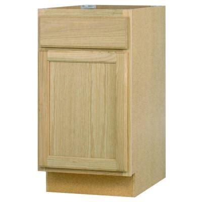 oak kitchen cabinets home depot 18x34 5x24 in base cabinet in unfinished oak b18ohd the