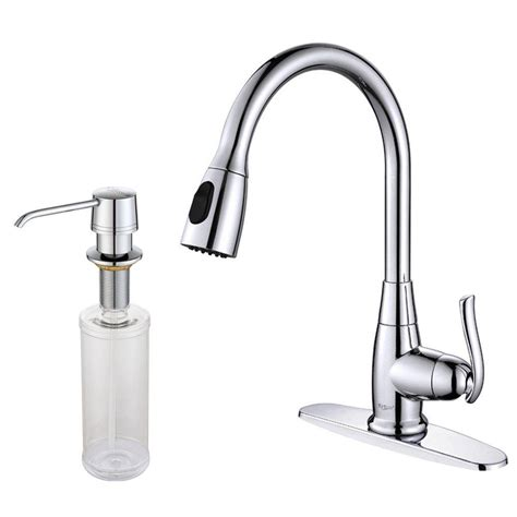 single handle high arc kitchen faucet kraus single handle stainless steel high arc pull down kitchen faucet with dual function sprayer