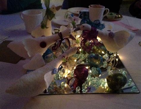 laying a christmas table 12 days of christmas table centerpiece six geese a laying christmas pinterest tables
