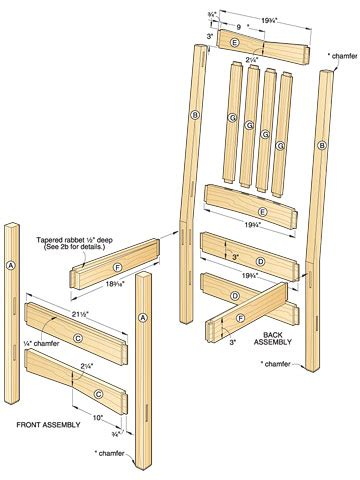 plans  wood chair  woodworking