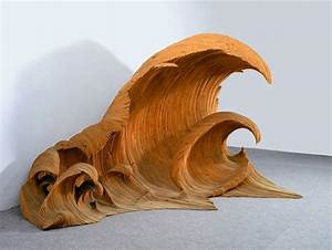 Giant Ocean Waves of Wood and Glass by Mario Ceroli Colossal