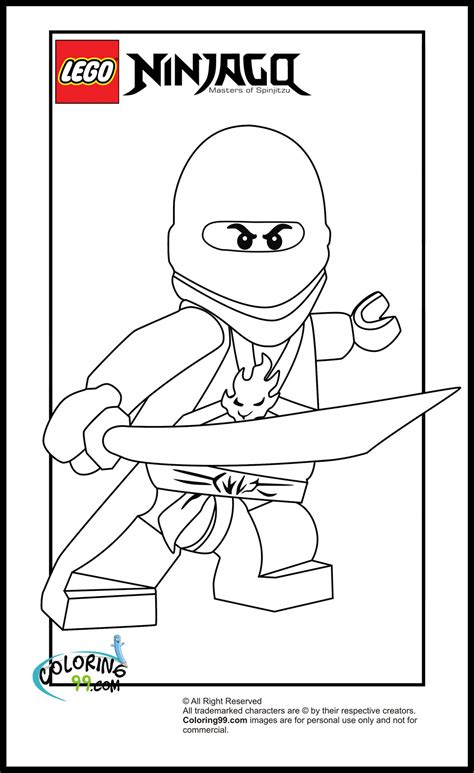 Free coloring pages of kai, lego ninjago