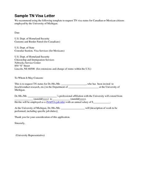 Supporting Letter Sample For Visa Application