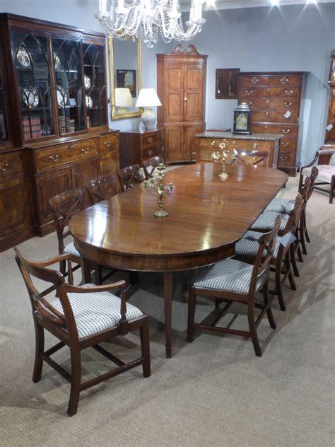Georgian dining table, mahogany extending dinging table