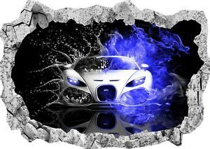 Drive your bugatti around the tracks and win races to become the best racer in town! Super Sports Car Racing Bugatti 3d Smashed Wall View Sticker Poster Decal 1023   eBay