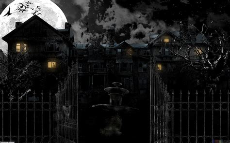 Background Haunted House by Haunted House Wallpapers Desktop Wallpaper Cave