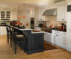 kitchen cabinets and islands white cabinets with black kitchen island decora