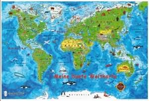 Weltkarte Kontinente Kinder : meine bunte weltkarte umwelt und kultur bildungsbereiche kindergarten kita kita info ~ A.2002-acura-tl-radio.info Haus und Dekorationen