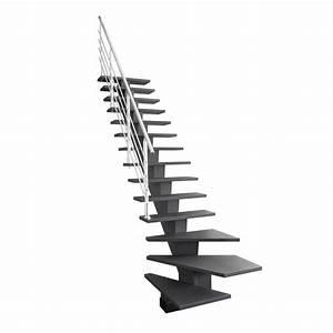 Escalier Double Quart Tournant Pas Cher : escalier quart tournant bas gauche gomera m dium mdf ~ Premium-room.com Idées de Décoration