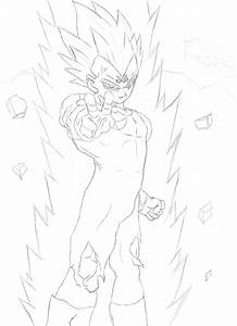 How to draw Majin Vegeta