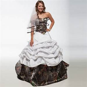 white camo wedding dresses 2015 ball gown with court train With white camo wedding dresses