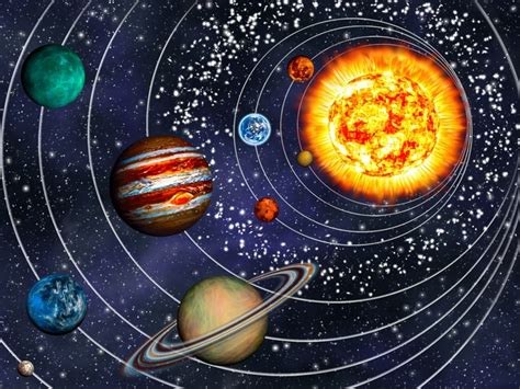 ebay home interiors 3d solar system 9 planets in their orbits wall mural