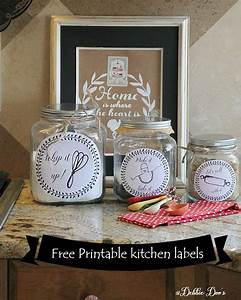 free kitchen printable labels for canisters or more With kitchen colors with white cabinets with how to print labels on sticker paper