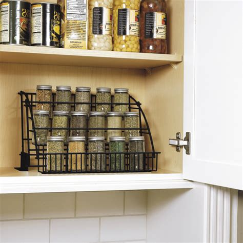 kitchen cabinet spice racks rubbermaid pull spice rack fg802009 walmart 5793