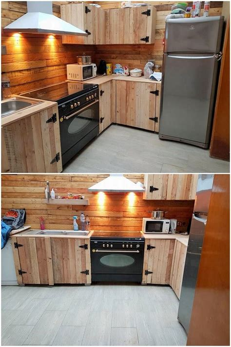 pallet wood kitchen cabinets awesome diy ideas for wood pallets repurposing pallet 291 | Pallet Kitchen Cabinets2