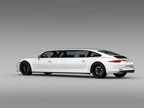 Porsche 911 Carrera 4 Gts Limousine 2018 3d Model Buy