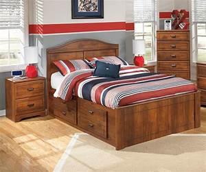Barchan b228 full size panel bed ashley furniture warm for Bedroom furniture sets tampa fl