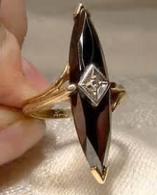 black alaskan diamond pyrite hematite ring