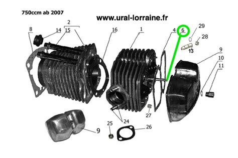 Ural Engine Diagram by Stud Normal Thread For Valve Cover From 2006 Ural 750