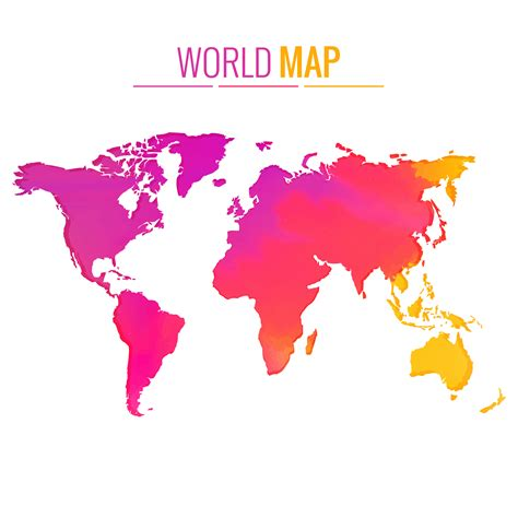 colorful world map colorful world map vector design free vector