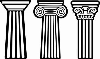 Greek Column Clip Pillar Clipart Greece Ancient