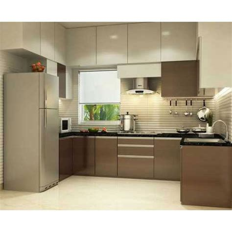 brown modular kitchen cabinet rs  square feet