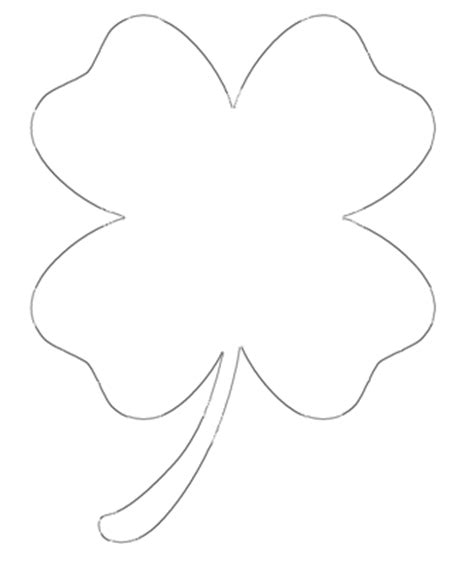 four leaf clover free printable four leaf clover templates large small patterns to cut out
