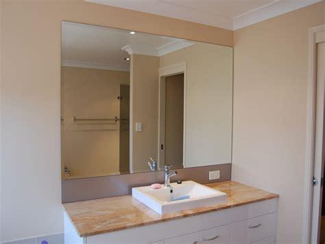 Frameless Bathroom Mirrors Over Vanity