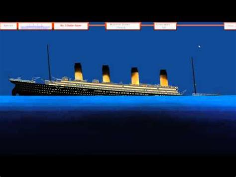 titanic sinking simulation 1 46 titanic sinking simulation original version by