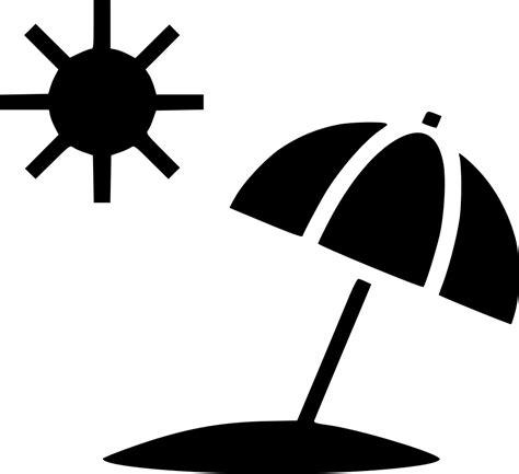 White Beach Chair Sun Summer Umbrella Beach Svg Png Icon Free Download 498197 Onlinewebfonts Com