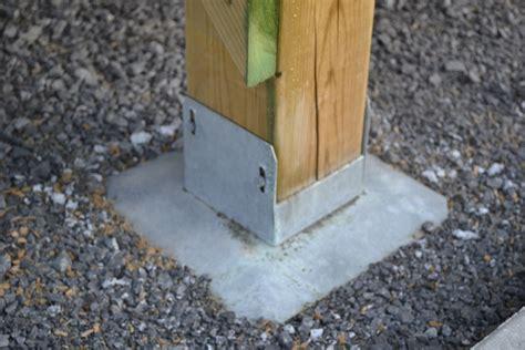 free standing deck footings homebuilding