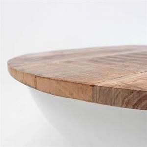 Table Ronde Bois Metal : table basse ronde bois et m tal 71 tagari drawer ~ Teatrodelosmanantiales.com Idées de Décoration