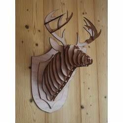 Tete De Cerf Bois : t te de cerf en bois puzzle 3d magnifique sculpture d animaux en contreplaqu pour la ~ Teatrodelosmanantiales.com Idées de Décoration