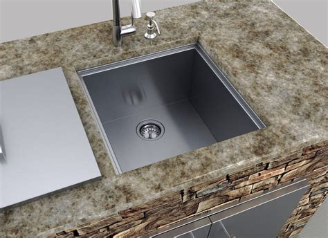 sink covers for kitchens sunstone b sk20 single basin sink w cover stainless 5276
