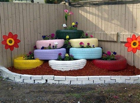 garden decoration using tyres garden decor ideas with car rims and tyres upcycle