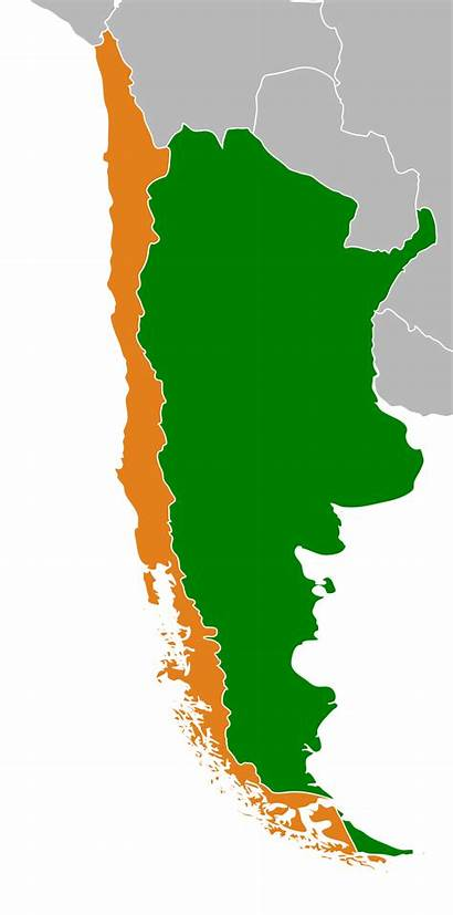 Argentina Chile Relations Svg Wikipedia Map Locator