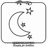 Coloring Pages Moon Objects Labels Sky sketch template